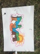 Our first drawing of our graffiti
